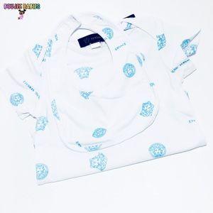 Versace baby onesie and bib set